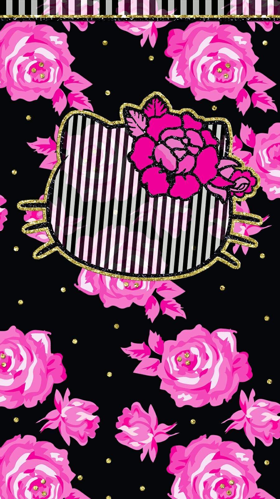 Hot Pink Black Wallpaper Iphone Cutewalls Hello Hello