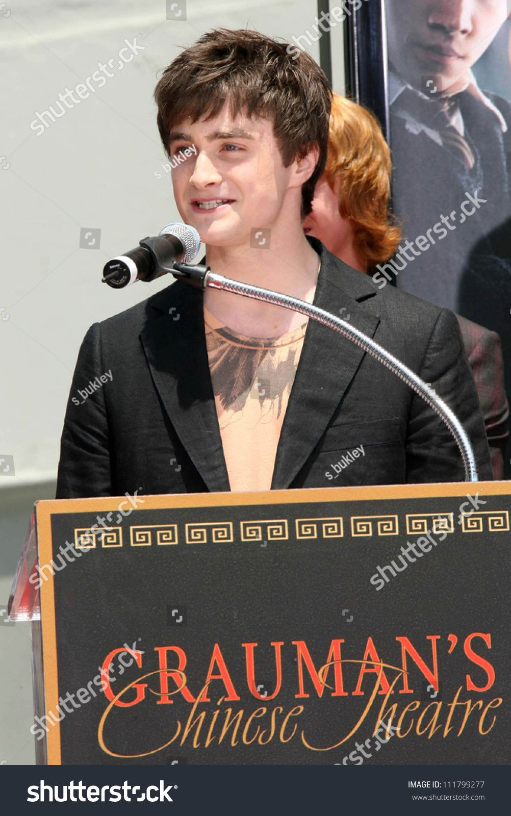 Photo of Daniel Radcliffe at the Hand, Foot and Wand Print Ceremony Honoring The Cast of …