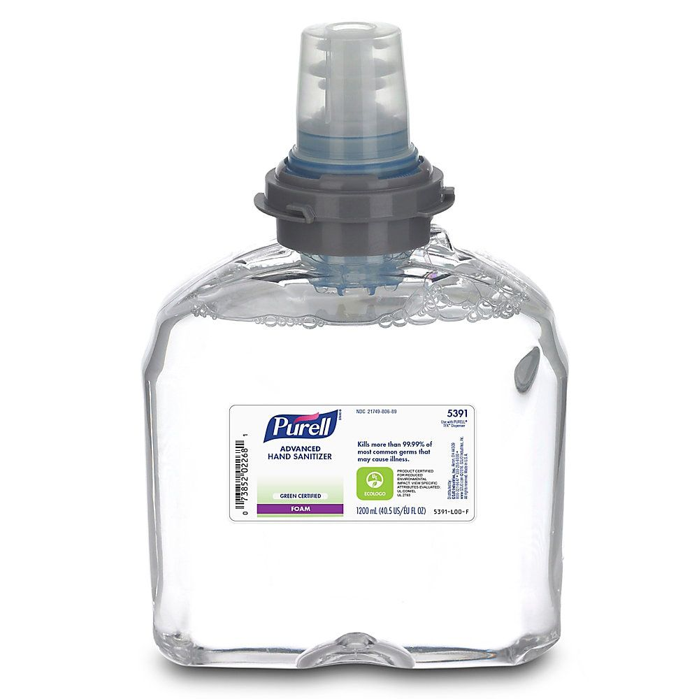 Purell Tfx Instant Hand Sanitizer Foam Refills 1200ml Carton Of