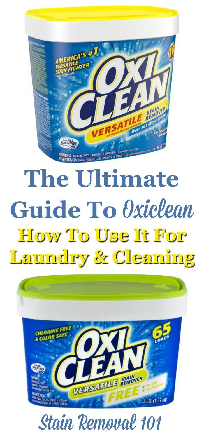 Here is the ultimate guide to Oxiclean, the product used to fight stains and clean all types of items. In this article I've provided lots of uses for this ...