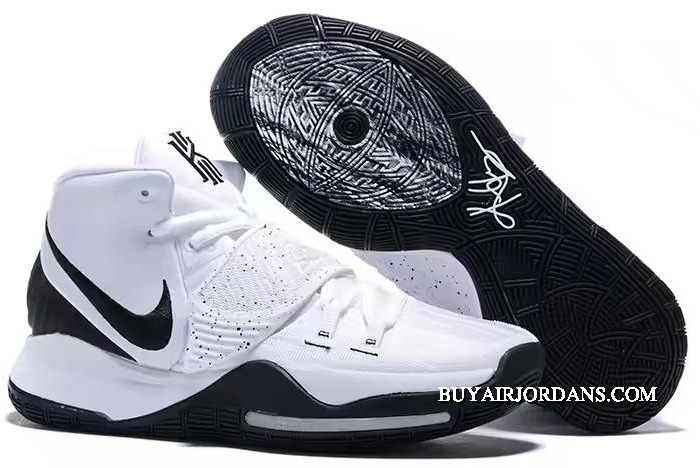 Discount 2020 Nike Kyrie 6 White Black Basketball Shoes