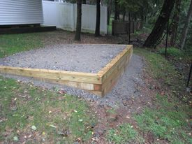 Site Prep | Al's Shed World | a Division of Florham Park ... on Unlevel Backyard Ideas id=30181