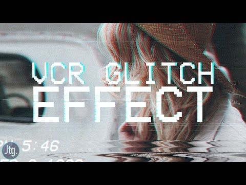 Photoshop Tutorial Vcr Vhs Tape Camcorder Glitch Effect Photoshop Tutorial Photoshop Vcr Tapes