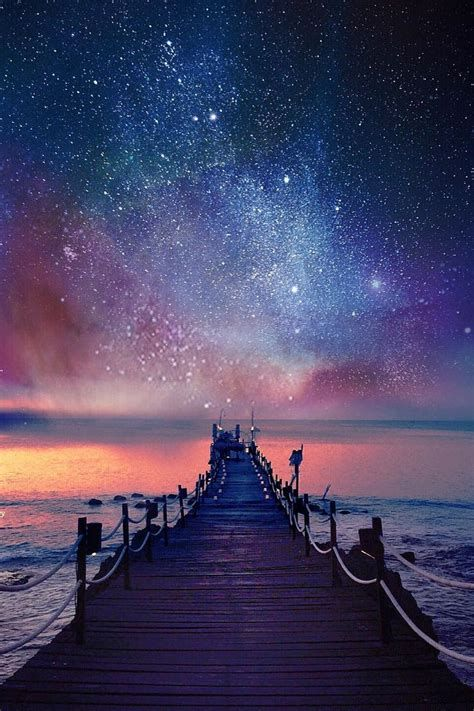Image Result For Beautiful Pink Starry Night ภ ม ท ศน อาท ตย