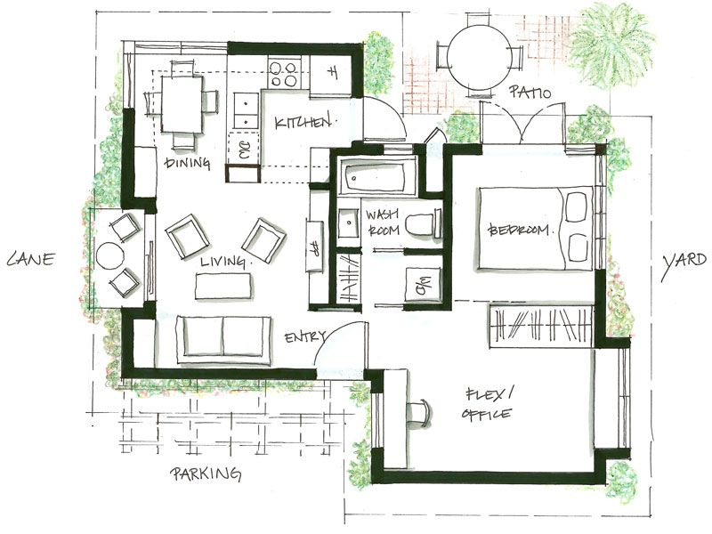 Design And Floor Plan For Smallworks Signature Vancouver Laneway House Small Floor Plans Small House Plans Tiny House Plans
