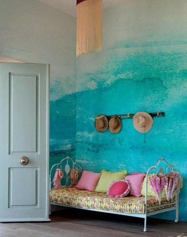 Kissen Bunt Wandgestaltung Mit Farbe Wandfarben Ideen Kühn