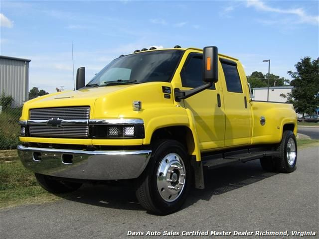 2005 Chevrolet Kodiak Topkick C4500 Hd 6 6 Duramax Diesel Dually Crew Cab Hauler Tow Bed 39 995 Visit Www Davis4x4 Duramax Diesel Duramax Single Cab Trucks