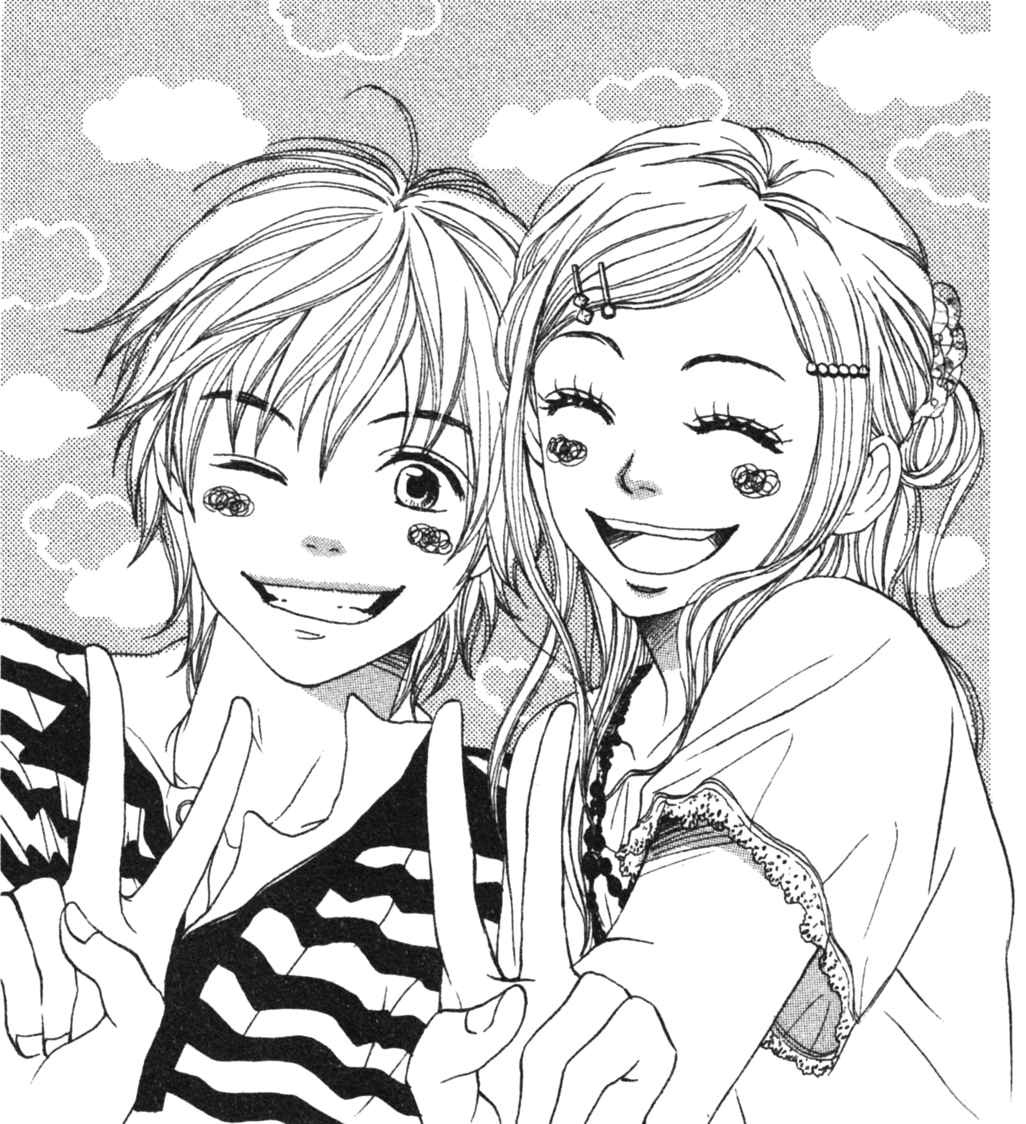 Картинки аниме друзья рисовать