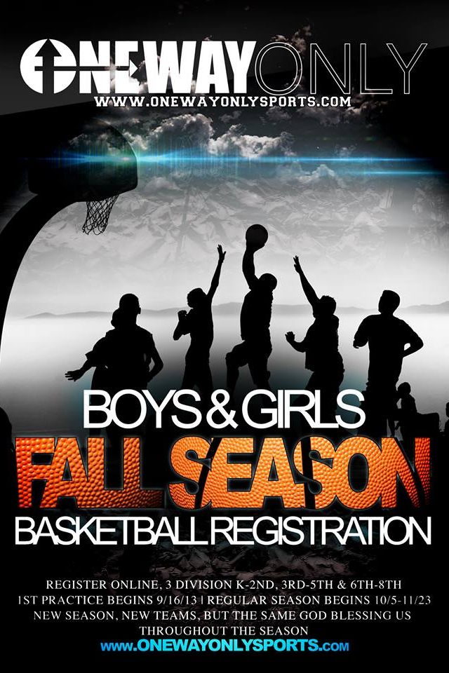 fresh new flyer design for youth co ed basketball league graphic