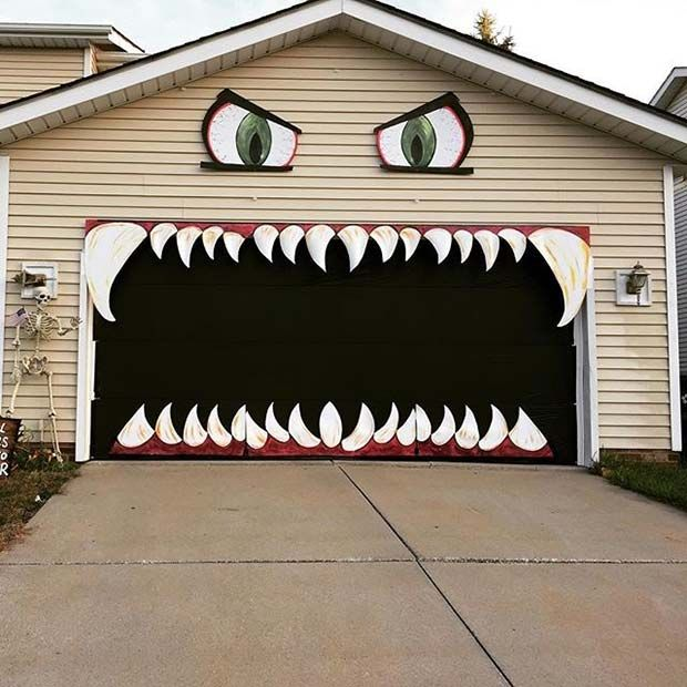 21 Fun DIY Halloween Party Decor Ideas Halloween Pinterest - scary door decorations for halloween