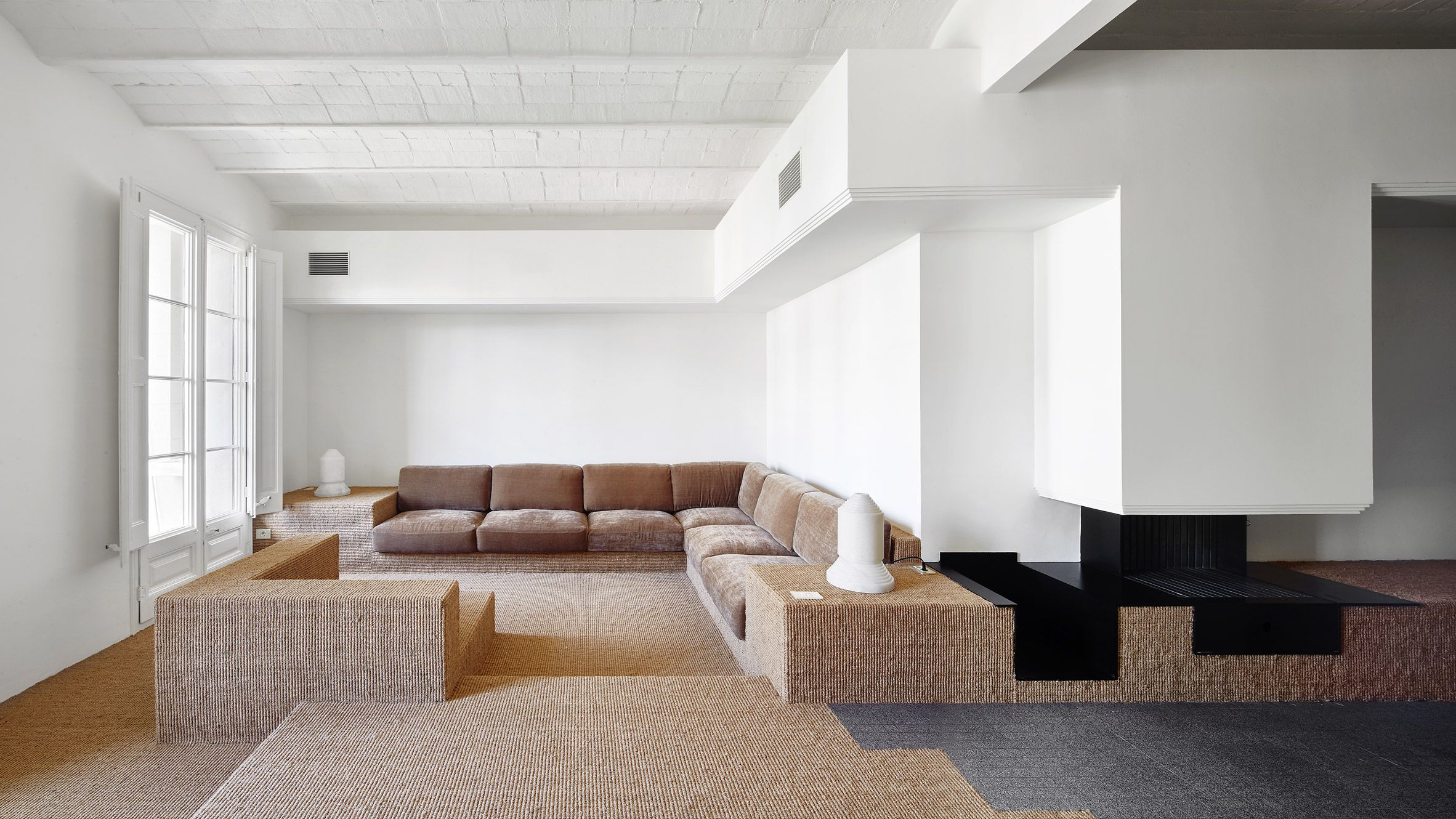 arquitectura g girona st renovation an oddly fascinating use of carpet barcelona 2015