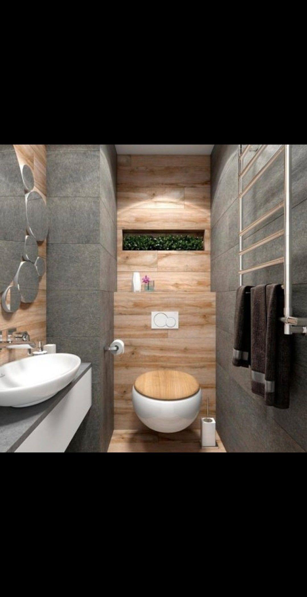 استغلال المساحات مع الإبداع Minimalist Bathroom Design Rustic Bathrooms Minimalist Bathroom