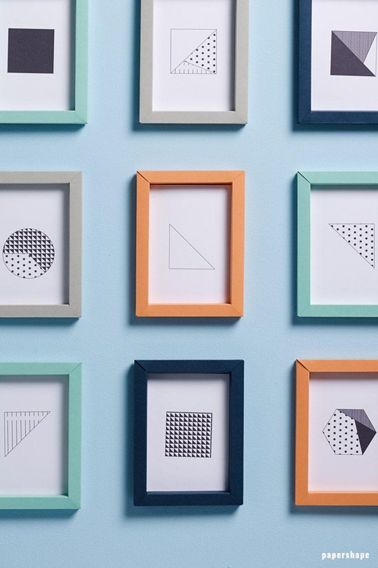 Geniale Bilderrahmen basteln (in 3D und mit und ohne Kleben)
