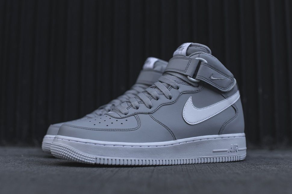 Nike Nike Air Force One Trainers Cool Grey Wold Grey White