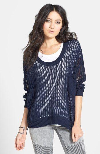 open knit sweater