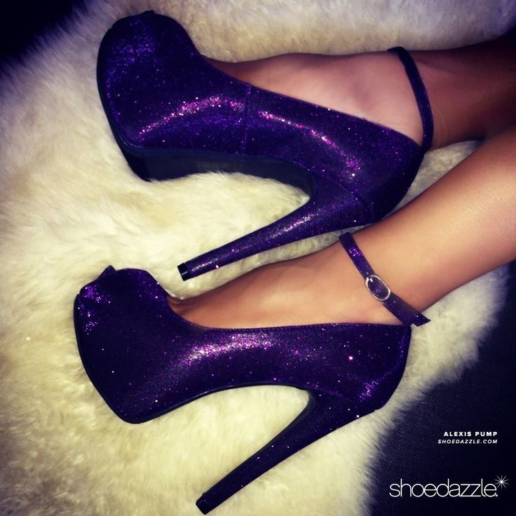 Love these purple sparkly shoes Shoes |2013 Fashion High Heels ...