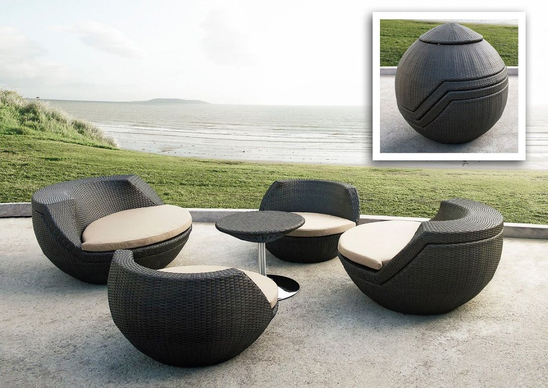 The Awesome Outdoor Patio Seating Furniture Contemporary Photo