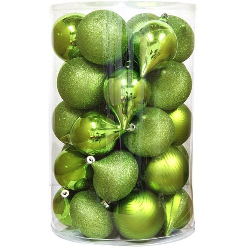 lime green christmas centerpieces | ... Shatterproof Christmas ...
