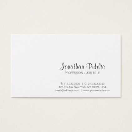 Create your own white modern classy design plain business card create your own white modern classy design plain business card simple unique et style reheart Gallery