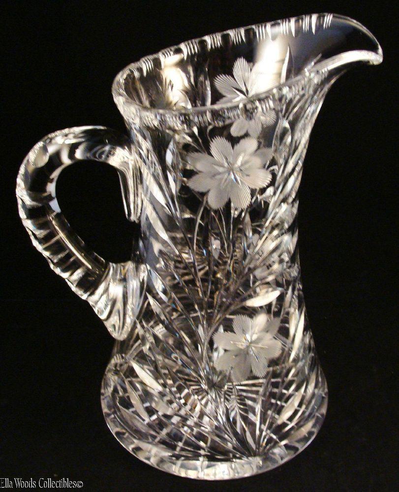 atq abp american brilliant period cut crystal glass