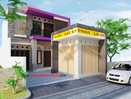 Hasil Gambar Untuk Gambar Rumah Dan Toko Minimalis Desain Rumah
