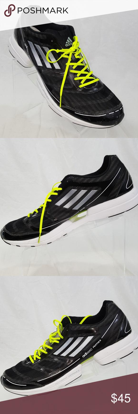 Adidas adizero Feather corriendo adidas negro Silver SZ 14 adidas corriendo adizero 712cbe