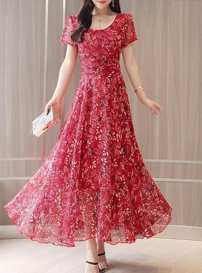 Chiffon Elegant Maxi Dresses for Women from Brilliance