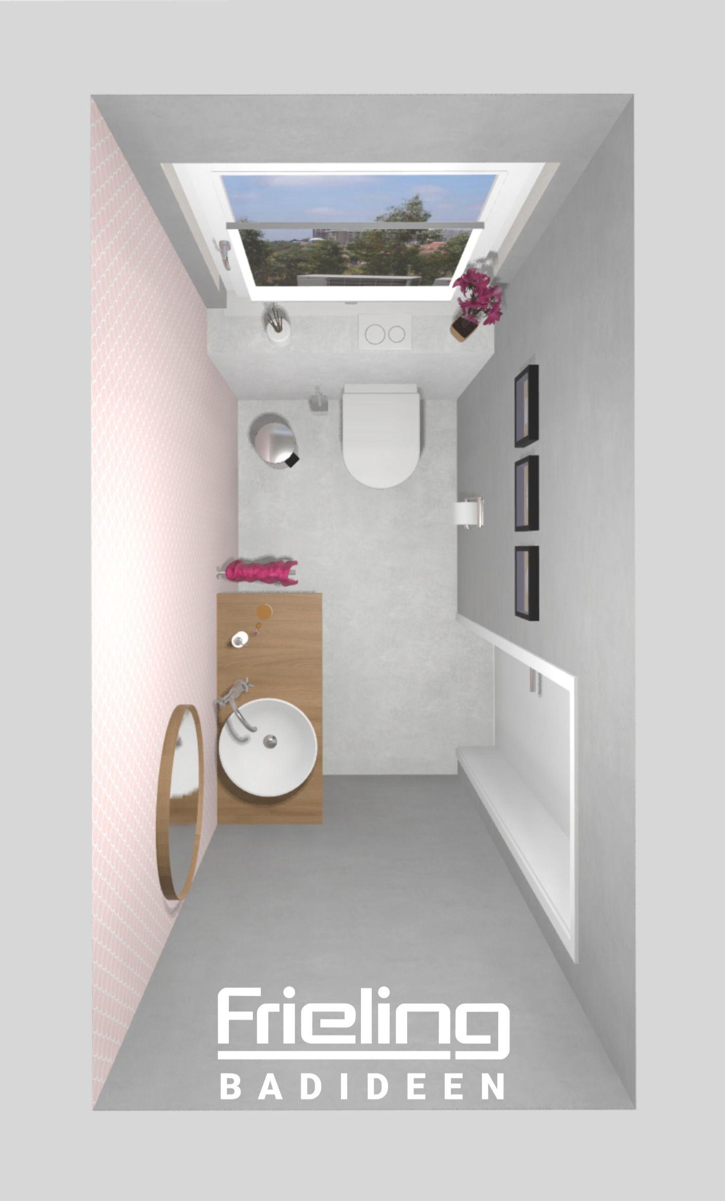 Wirkung Von Farbe 3d Planung Platz Auf 2 Qm Traum Vom Gastebad Clevere Aufteilung In 2020 Gaste Wc Rosa Grau Gastebad