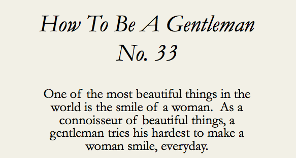 Things to make a woman smile