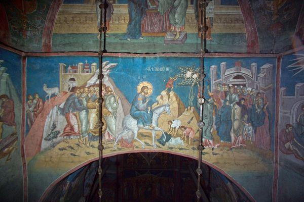 Αποτέλεσμα εικόνας για Христов улазак у Јерусалим Дечане