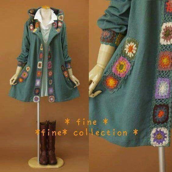 Pin de maria del en tejidos | Pinterest | Abrigos, Ganchillo y Damas