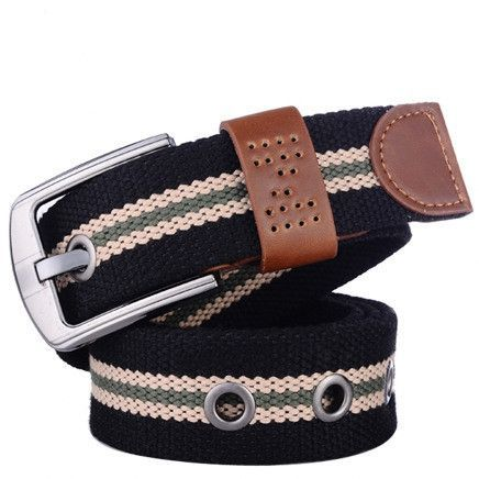6827fa50 Canvas pin buckle belt unisex military belt Army tactical fashion ...