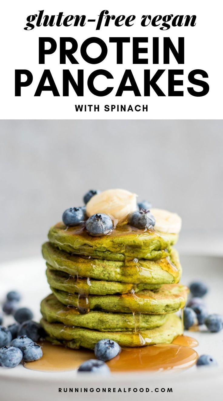 Green Vegan Protein Pancakes