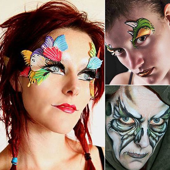 15 awesome last minute halloween face paint ideas - Halloween Face Painting For Girls