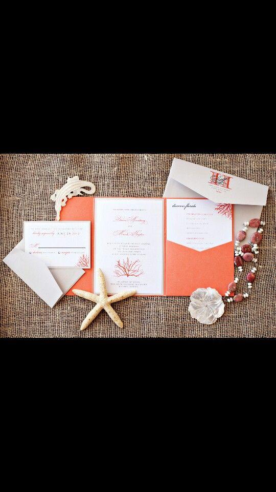 Fiji wedding invites #coral #fijiwedding | Wedding Ideas #misched ...