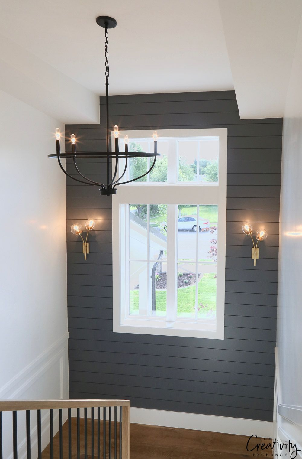 Modern farmhouse home tour millhaven homes entrance - Benjamin moore interior paint colors ...