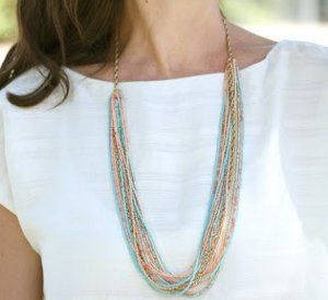 Photo of Chain and Seed Bead Summer Necklace