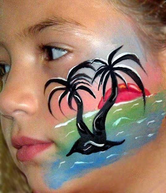 monster inc face painting - Google Search