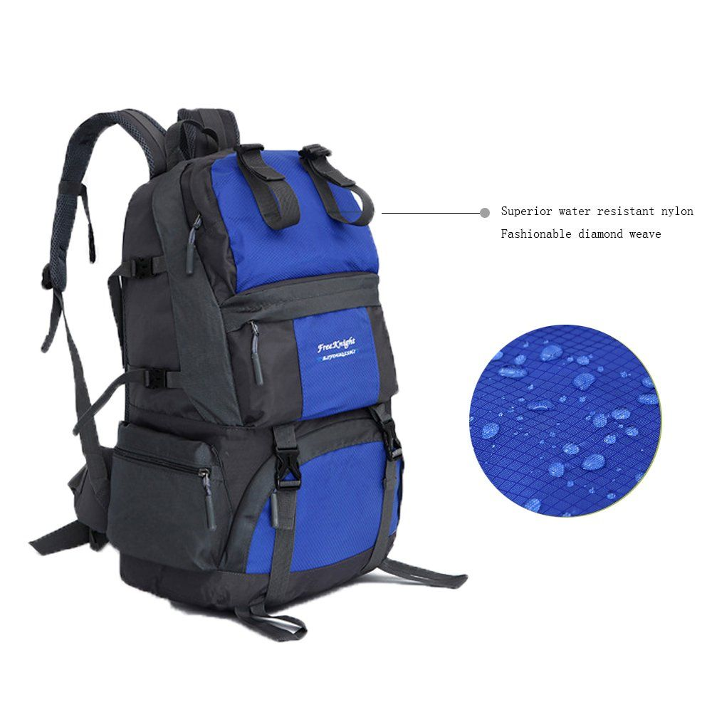 c268f75ae8 Free Knight 50L Hiking Backpack Water Resistant Travel Rucksack for Camping Hiking  Mountaineering Travelling Weekend Trip Hard Wearing Luggage Gear Bag ...