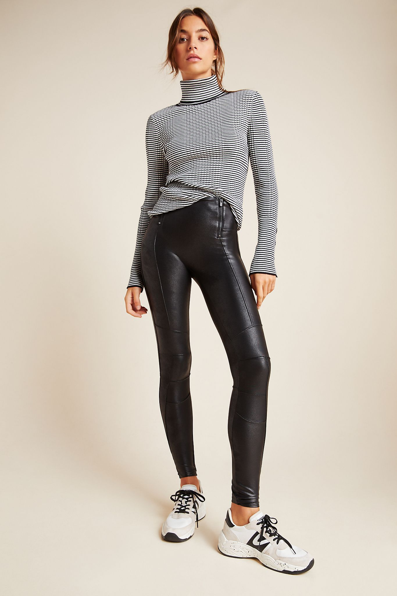 Spanx HipZip Faux Leather Leggings in 2020 Black
