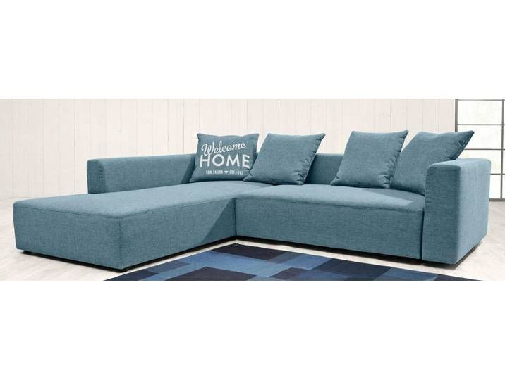 Tom Tailor Eck Sofa Blau 282cm Recamiere Links Heaven Casual M Couch Sofa Warm Grey