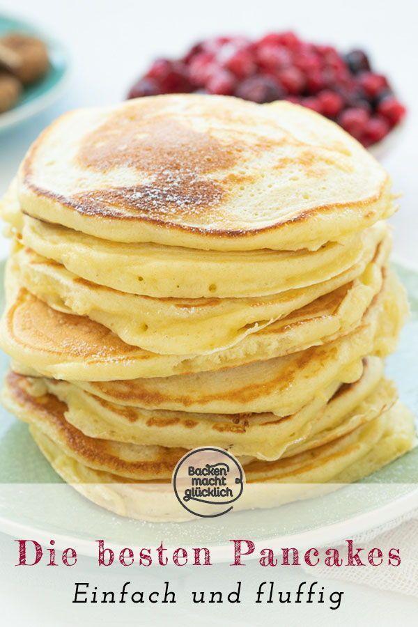 Die besten Pancakes (Grundrezept)   Backen macht glücklich