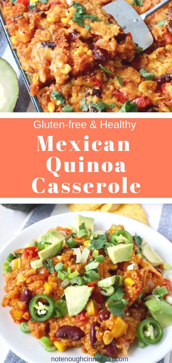 Healthy Mexican Quinoa Casserole | Not Enough Cinnamon Mexican Quinoa Casserole ( Healthy & Gluten-