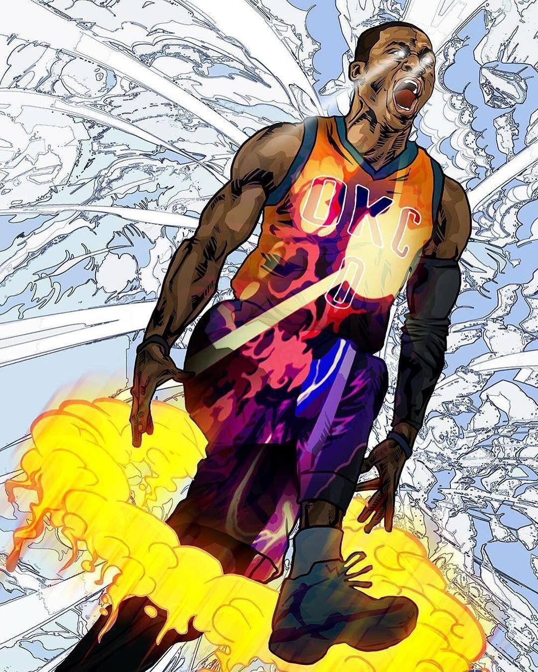 Roger Huang Art & Basketball Pinterest NBA, Russell