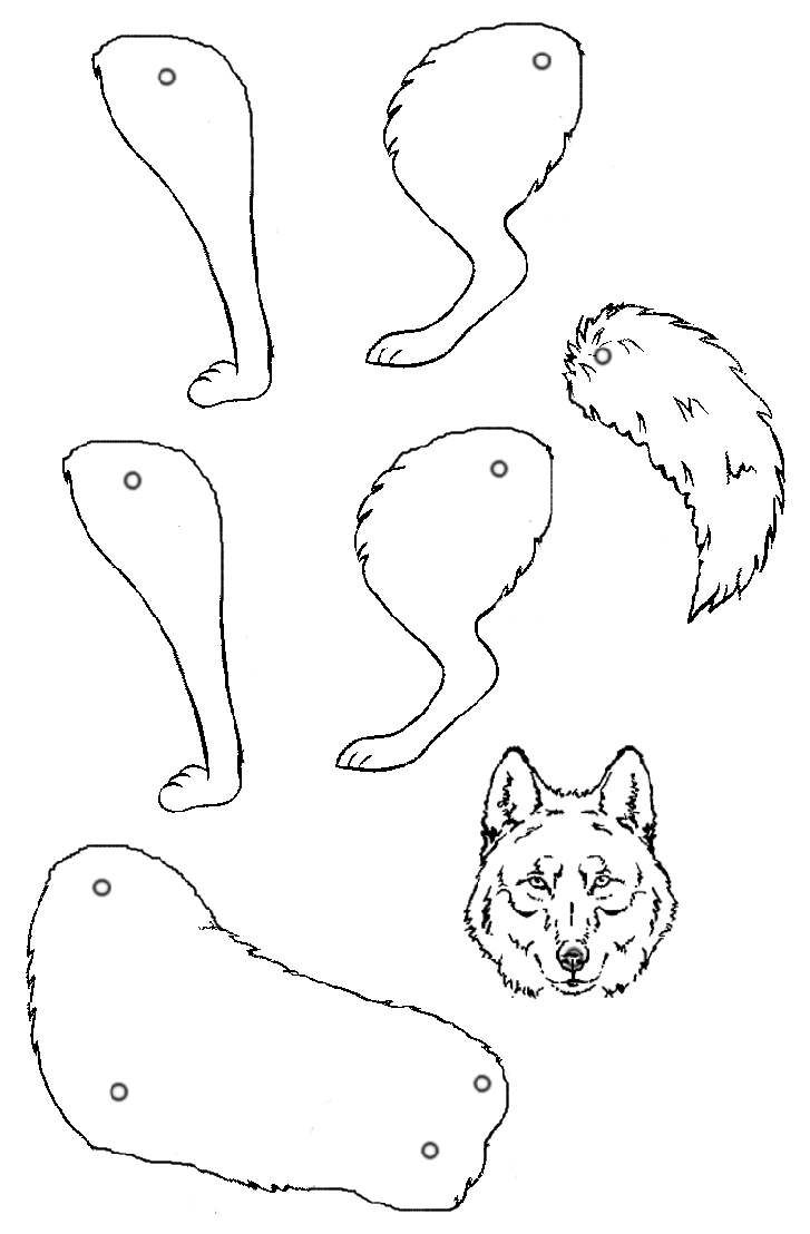 Loup wolf bewegliches spielzeug pinterest animaux - Pantin articule a imprimer ...