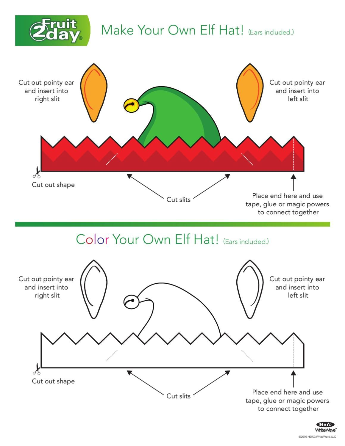 elf hat click here to print templates pinterest christmas