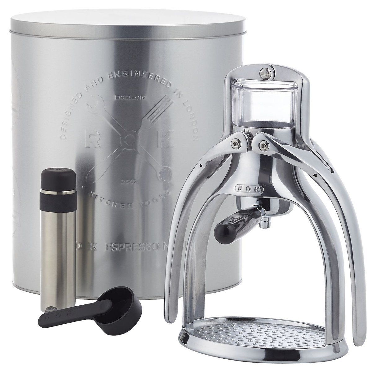 ROK Manual Espresso Maker Silver, One Size * This is an
