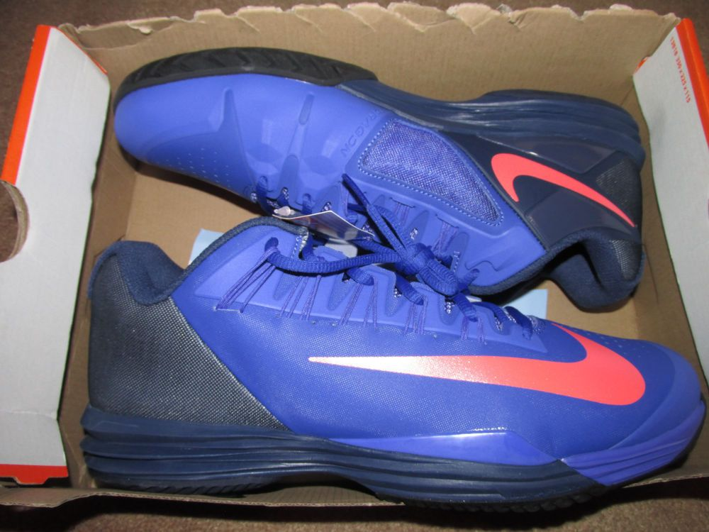f1e9fb772afb Nike Lunar Ballistec 1.5 Mens Tennis Shoes 11 Persian Violet Hot Lava  705285 584  Nike  Tennis
