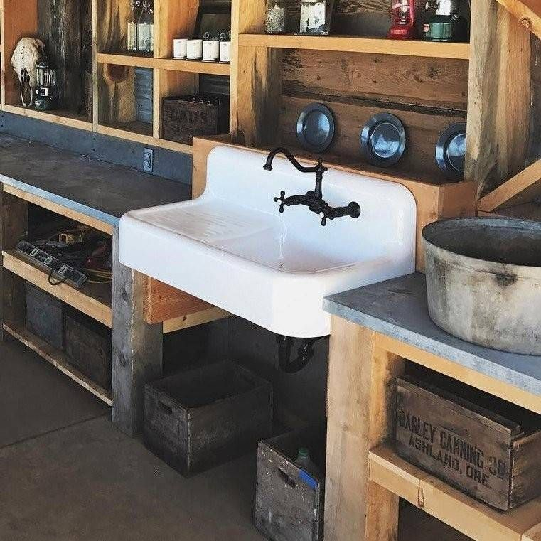 Cora 42 Inch Cast Iron Farmhouse Drainboard Sink 8 Inch Faucet