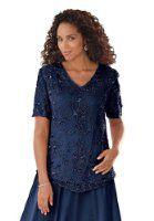 Amazon.com: Roamans Women's Plus Size Lace And Chiffon Jacket Dress: Clothing
